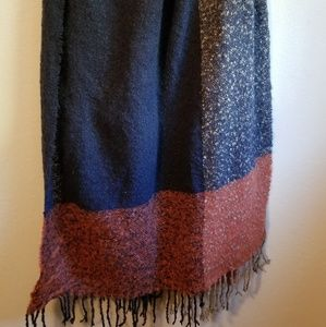 Large rectangular blanket scarf.